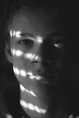 (anjanjas) Tags: morning light boy shadow portrait blackandwhite sun sunlight playing game cute guy beautiful closeup fun eyes