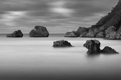 Rocks N Sea (GOJR.) Tags: longexposure bw monochrome lowkey searocks nd400 borinquen seacscape sigma10528 nikond700 hoyahmc400