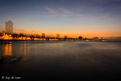 Havana double skyline (emydelema) Tags: sunset sea sky skyline night cu havana cuba habana doubleexposition lahabana sealine dobleexposicion