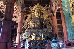 Tdai-ji temple, city of Nara, Japan, (Rita Willaert) Tags: japan daibutsu bronzestatue nara tdaijitemple buddhavairocana cityofnara