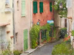 Wandering the ancient passageways of Provence (Solly Avenue) Tags: travel light painterly france photomanipulation ancient cotedazur impressionism provence southoffrance ctedazur digitalphotoart ipadpainting painterlyapp