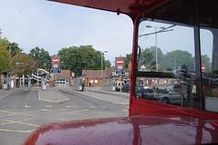 DB755.   View from RM1000. (Ron Fisher) Tags: uk greatbritain england pentax unitedkingdom gb routemaster farnborough parkroyal londonbus rm aec pentaxkx rearentrancebus halfcabbus farnboroughbusrunningday