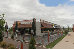 McDonald's Dijon Parc Valmy (France) (Meteorry) Tags: france restaurant europe dijon terrace burgundy fastfood terrasse july mcdonalds storefront drivethru bigmac bourgogne valmy 2014 mcdrive meteorry toisondor ctedor durability automac zonedactivit parcvalmy rueauxcharmesasnires pledactivit