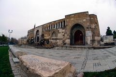Alaeddin Camii (1) (selcukozkan) Tags: distortion architecture turkey photography photo nikon angle trkiye mosque structure fisheye photograph nikkor cami dx konya mimari 105mm yap nikkorlenses alaeddincamii diyfisheye seluklu balkgz balkgz d3100 nikond3100