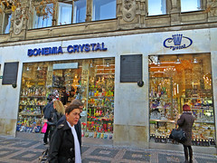 Bohemia Crystal store on Wenceslas Square in central Prague, Czech Republic. November 16, 20142 (Aris Jansons) Tags: city europe czech prague capital praha wenceslassquare 2014 česko bohemiacrystal crystalstore