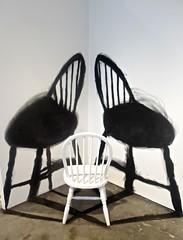 Black and White (ricko) Tags: art chairs kansascity opa kansascityartinstitute