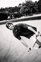 Dano with his tongue flapping (smithcmatt) Tags: white black canon concrete bmx bowl riding tiles skate ugly albany sucks flapping pulling tee mid 700d