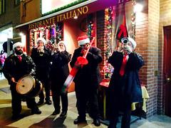 italiano (greenelent) Tags: christmas xmas people music streets band photoaday 365 littleitaly italiano