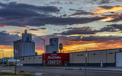 Sunset from Hooker OK (G.E.Condit) Tags: sunset sky oklahoma clouds dusk silo ok hooker truevalue grantcondit
