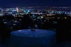 tank top (pbo31) Tags: california city dublin black color silhouette skyline night dark nikon highway december view over eastbay watertank pleasanton alamedacounty d800 2014 580 lightstream