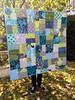 Grey, Lime & Blue random patchwork quilt (sewfunbymonique) Tags: quilt photostream amybutler jenniferpaganelli annamariahorner sewfunbymonique