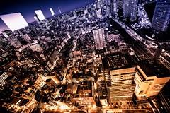 Bird's Eyes (hidesax) Tags: urban japan night tokyo nikon cityscape nightscape dusk minatoku hamamatsucho birdseyes hidesax d800e