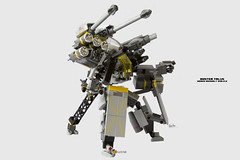 Buster Talos Mecha Ver2.2 (Tripod Mode) (clmntin.E) Tags: portraits robot suits lego mechanical military hard battle mini future artillery shield tandem pilot futuristic mecha mech povray creations mocs minifigure moc afol ldd exo miniland talos hardsuits minifigurine exosuits