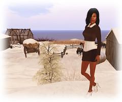 Farm Day (Sasy Scarborough ) Tags: fashion model style secondlife blogging shi gawk slink frisland essenz sasypantscom