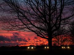 The Road Home (davepickettphotographer) Tags: road uk travel sunset cars night photography gb perry cambridgeshire huntingdon em1 grafham grafhamwater esystem olympuscamera huntingdonshire