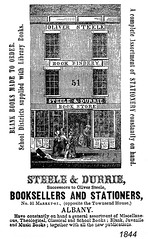 steele & durrie booksellers 1844 (albany group archive) Tags: albany ny city guide 1844 steele durrie booksellers oldalbany history
