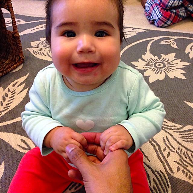 Niece Smiling, Christmas Eve 2014
