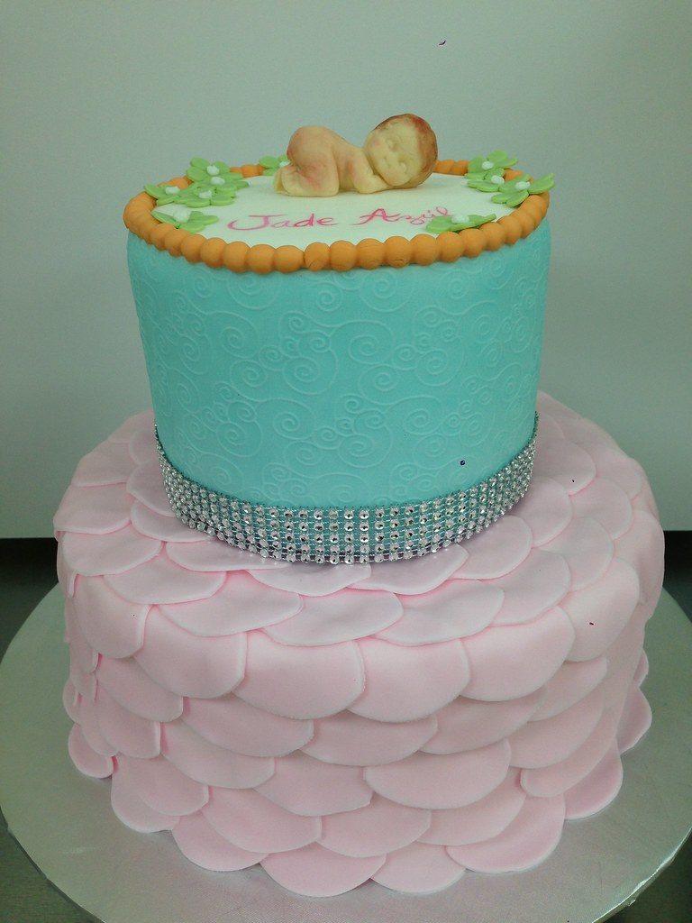 Rose Petals Baby Shower Cake ...