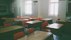 Classroom (lizannefigueras) Tags: school wooden heart classroom sacred desks grammar