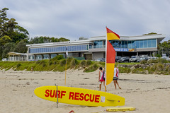 Mollymook Surf Rescue Beachscape (Visit Shoalhaven) Tags: life rescue beach grass club golf sand surf board dunes flags saving mollymook shoalhaven