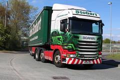 H2150 CHARLIE MOORE  PE64 USV (Barrytaxi) Tags: transport eddie scania stobart eddiestobart
