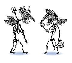 Demon Pedestrians (Don Moyer) Tags: ink notebook drawing demon devil moyer brushpen pedestrain donmoyer