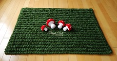 Crochet grass rug with mushroom 3 rs (Mingle Doll ) Tags: mushroom grass with crochet rug toadstool