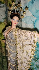 1994 Erte Stardust Porcelain Doll #1 (Deboxed) (5) (Paul BarbieTemptation) Tags: silver gold doll barbie 1994 limited edition porcelain stardust erte