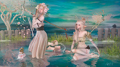 Sakura (Anita Armendaiz) Tags: life shadow water reflections hair doll mesh ears mandala elf coco fantasy soul una second due gacha wasabipills tentacio mays mushilu