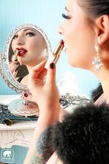 Photo&Retouch by Mogli Pictures (misslestrange) Tags: portrait vintage mirror curvy redlips redlipstick diva pinup pinupstyle