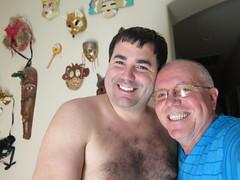 June 16, 2016 (365 Gay #52) (gaymay) Tags: california gay love james desert palmsprings masks darek