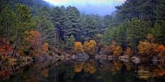 (153/16) El lago de los espejos III (Pablo Arias) Tags: pabloarias espaa spain hdr photomatix nx2 photoshop nubes texturas cielo lago elvalledeltietar avila comunidadcastillalen pinos rboles vegetacin