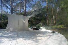 Inflatable dome (Elly Snel) Tags: music terschelling island woods research dome muziek bos herz eiland koepel onderzoek plastiquefantastique residentie leineroebana katemore thestolzquartet oerol16 marcocanevacci