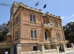 Greek Embassy, Ta' Xbiex Terrace, Ta' Xbiex (RobJH82) Tags: sea summer sun hot island europe mediterranean malta heat taxbiex