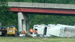 Cleanup (blazer8696) Tags: 2016 brewster ecw ny newyork sodom t2016 usa unitedstates crash dscn0136 oops over roll rollover tractor trailer truck