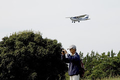 A SMALL AIRPORT, SOME PARKS AND CLOUDS - XXXV (Jussi Salmiakkinen (JUNJI SUDA)) Tags: park wood autumn sky cloud japan airplane landscape tokyo airport cityscape aircraft     chofu