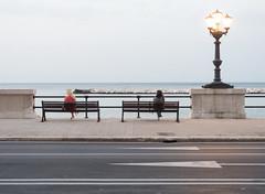 Bari, Lungomare N. Sauro (nicokap) Tags: street tramonto lungomare bari
