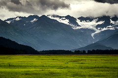 Far Away Mountains (thebestof.me) Tags: travel trees summer sky snow mountains nature beauty alaska clouds landscape rocks outdoor greens flog