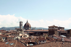 Roofs (m-blacks) Tags: city bridge roof summer sky urban italy panorama tower architecture landscape florence view top dome firenze duomo urbanscape brunelleschi santatrinita fromthetop