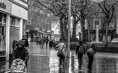 A wet day. (steve.gombocz) Tags: street blackandwhite bw wet rain noiretblanc zwartwit streetphotography olympus wakefield blacknwhite streetphotos noirblanc negroyblanco bwphotos svarthvitt mustavalkoinen negroblanco neroebianco blackwhitephotos schwartzweiss olympuscamera nerobianco sortoghvid olympususers olympuszuikodigitalclub svartochvitt schwartzundweiss svartoghvitt flickrbw olympusm25mmf18 olympusem5mark2 czarnyibiaty micro43rdsuk flickrblackwhitephotos