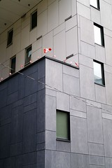 Little Flags (geowelch) Tags: toronto building downtown canadianflag urbanlandscape urbanfragments panasoniclumixgx1