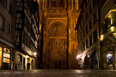 Cathedral Facade - Strasbourg, France (N+C Photo) Tags: world life street old travel viaje red holiday france history tourism stone architecture night photography lights noche photo arquitectura nikon frankreich europe catholic cathedral image earth explorer gothic culture eu medieval structure best architectural historic christian adventure strasbourg explore german alsace civilization christianity frankrijk nikkor dslr visual rhine francia middleages learn structural architectuur global discover aventura d800 tierra 1635f40