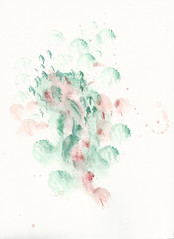 a passing moment (flippperling) Tags: pink abstract watercolor painting acrylic abstractart pastel jade acrylicpaint actionpainting pinkandgreen abstractexpressionism