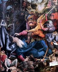 IMG_8154BA Matthias Grnewald.(Mathis Gothart Nithart)  1480 1528. Actif en Bade Wtemberg (Souabe)  et Alsace.  Le retable d'Issenheim. 2me ouverture  Les Tentations de St Antoine.   The Temptations of St. Anthony. Colmar Muse Unterlinden. (jean louis mazieres) Tags: france museum painting muse colmar museo peintures peintres matthiasgrnewald retabledissenheim museunterlinden mathisgothartnithart