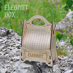 Elegant big box (cartonus) Tags: diy model box artnouveau gift artdeco vector woodworking plywood projectplan lasercut woodenbox woodengiftbox cartonus elegantbox