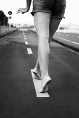 Street Ballet (New Version) (Edward Zulawski) Tags: street art arte artistic artstico ballet bal ballerina ballerine bailarina dance dana danza ps foot feet p cho floor walk pretoebranco blackandwhite pb bw pernas legs urban jeans shorts brazil brasil pointofview pov