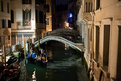 Gondolas ready for passengers (lucyrickerby) Tags: travel venice italy holiday water work boats island streetphotography streetlife canals nightlight gondolas canon6d