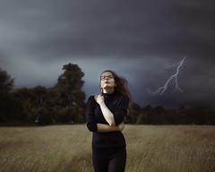 Week 28/52 - Storm Girl (JasPoole) Tags: portrait storm girl rain weather clouds self project moody wind lightning conceptual jas poole 52