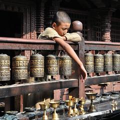 2038 Patan - Durbar Square - Bhaskerdev Samskarita Hiranyabarna Mahavihara dit le Temple d'Or (Docaron) Tags: nepal kathmandu patan népal katmandou dominiquecaron