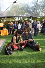 Robert Sheehan and Sofia Boutella at the NVFF Wine Pavilion (Napa Valley Film Festival) Tags: road robert film festival wine sofia v valley napa pavilion marketplace filmmaker sheehan within the yountville boutella